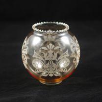 Globes ambrés gravés