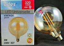 Ampoule globe Led E27 Vintage 4W