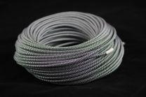 Câble électrique textile noir et blanc