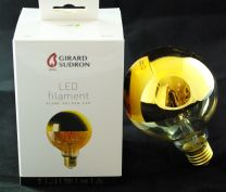 Ampoule led globe calottée or