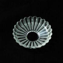 Coupelle crenelée en cristal de Baccarat