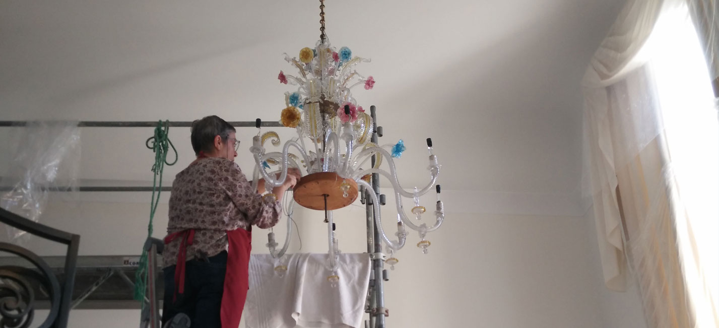 restauration luminaires anciens